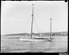 Two-masted yawl TRIXIE in Sydney Harbour, 1920-1939