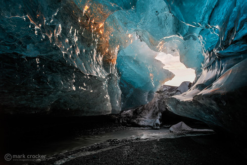 water sunrise dawn iceland glacier cave icecave