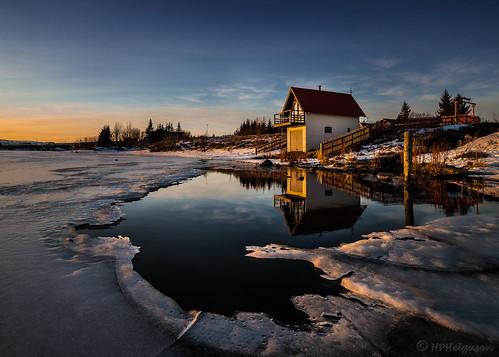 cold sunrise iceland wintermorning kuldi elliðavatn holeintheice vök vetrarmorgunn hphson sólris