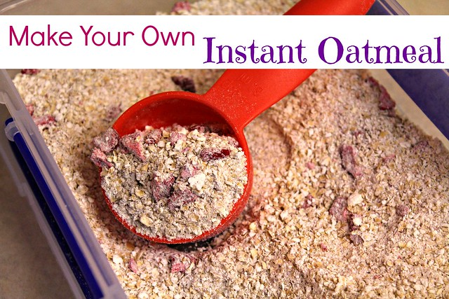 Homemade instant oatmeal