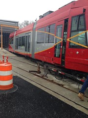 First United Streetcar  vehicle has arrived to the District.