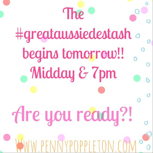 I'm putting some details for the #greataussiedestash up on my blog! Link in profile. :)