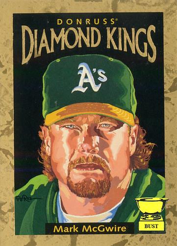 Baseball Card Bust Mark Mcgwire 1996 Donruss Diamond Kings Dream
