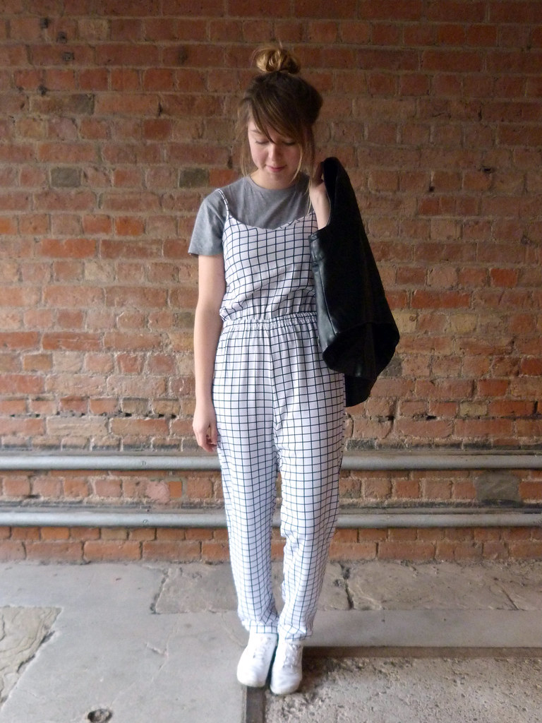 Fashion blogger | Outfit post | Lavish Alice Geometric Check Jumpsuit