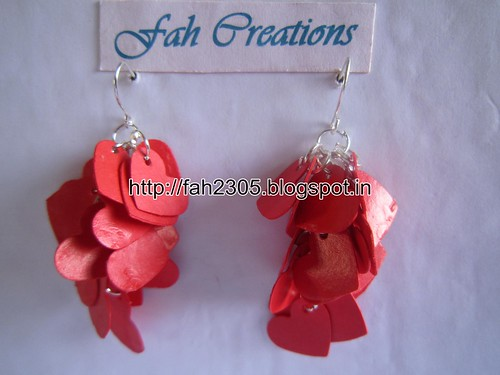 Handmade Jewelry - Paper Heart Punch Earrings  (1) by fah2305