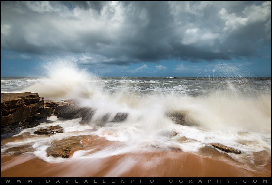 St. Augustine FL Beach Seascape - Loss and Restoration