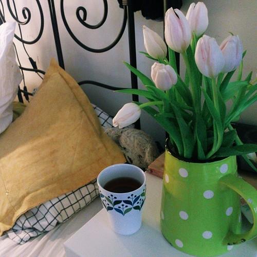 tulips & tea.