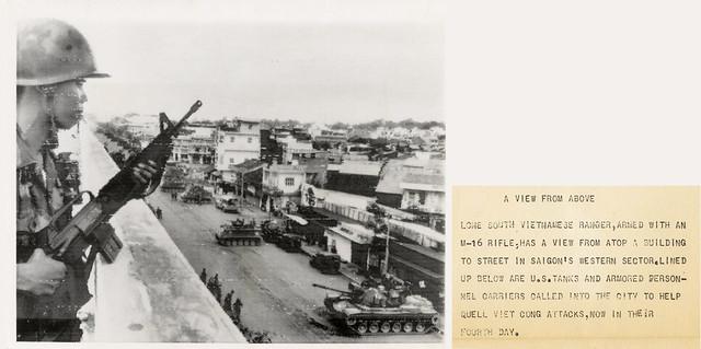VIETNAM WAR PHOTO - A VIEW FROM ABOVE SAIGON - Đường Trần Quốc Toản (khu vực Q11 gần vòng xoay Cây Gõ))