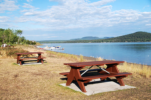 Blue Springs Picnic Site, Green Lake Provincial Park, 70 Mile House, Cariboo, British Columbia, Canada