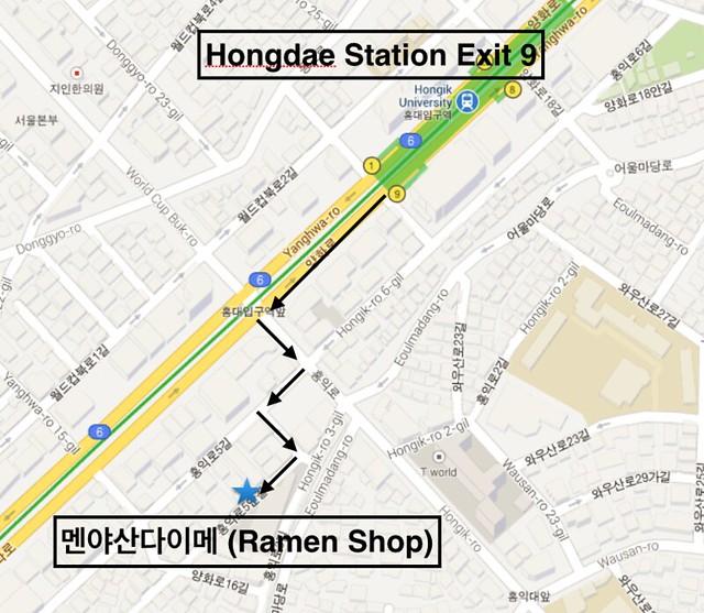 Ramen Shop Map