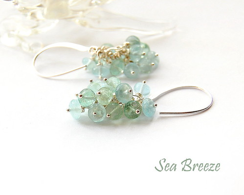 Sea Breeze Earrings by gemwaithnia
