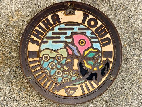 Shika Ishikawa, manhole cover (石川県志賀町のマンホール)