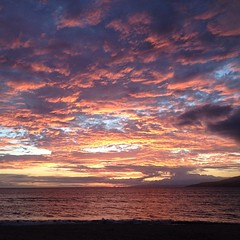 Besides sitting on Kiawe this happened. #nofilter needed tonight. #luckytolivehawaii #seemaui