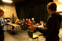 Wed, 2014-03-05 08:05 - Behind-the-scenes pictures of rehearsals for our adaptation of Dorian.