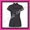 AX007 - Black tunic with hot pink contrast