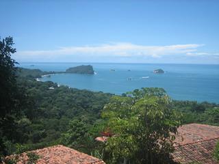 Costa rica coast landscape over jungle and water.
