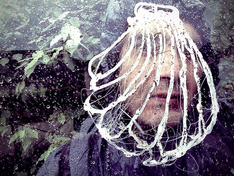 Selfie sous la pluie