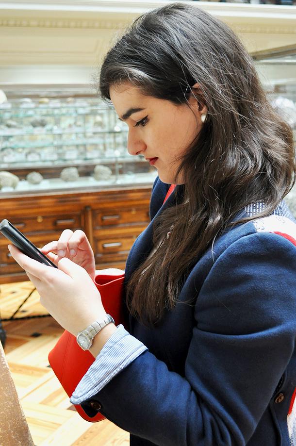 something fashion geomining museum madrid, el tiempo entre costuras museo geominero, vilagallo blazer UK flag michael kors jet set bag red spain fashion blogger travelling
