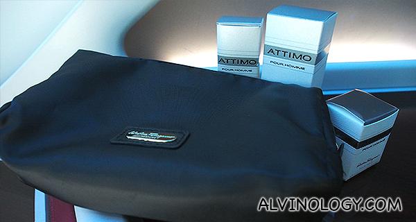 Salvatore Ferragamo vanity kit for Business Class passengers