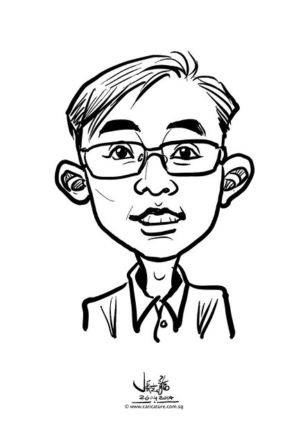 digital live caricature sketching for National Heart Centre Singapore -26
