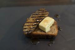 Banana bread with grilled banana