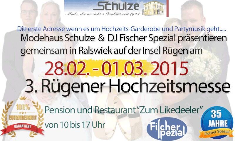 """3.Ruegener Hochzeitsmesse in Ralswiek , Pension & Gaststätte """"Zum Likedeeler"""""""