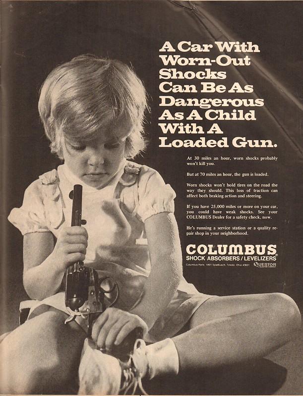 1971 Columbus Shock Absorbers Advertisement Life Magazine May 14 1971