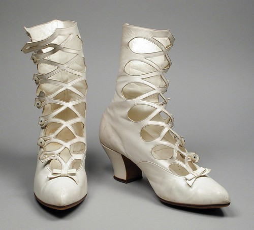 Pair of Woman's Boots (Wedding) LACMA 40.29.1a-b