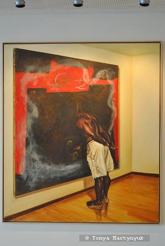 41. Armando Mariño. Lectura profunda de un cuadro abstracto, 1999