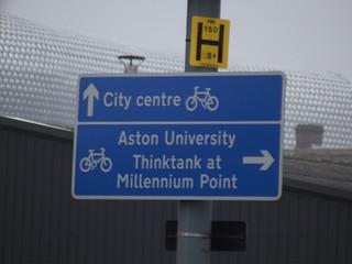 Fazeley Street, Digbeth - cycling sign