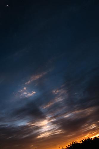 sunset sky sun moon clouds cielo nubes sunray sunsettage