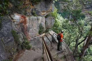 Alan descending the Furber Steps