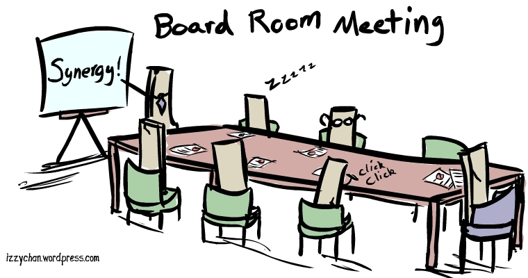 board room meeting synergy