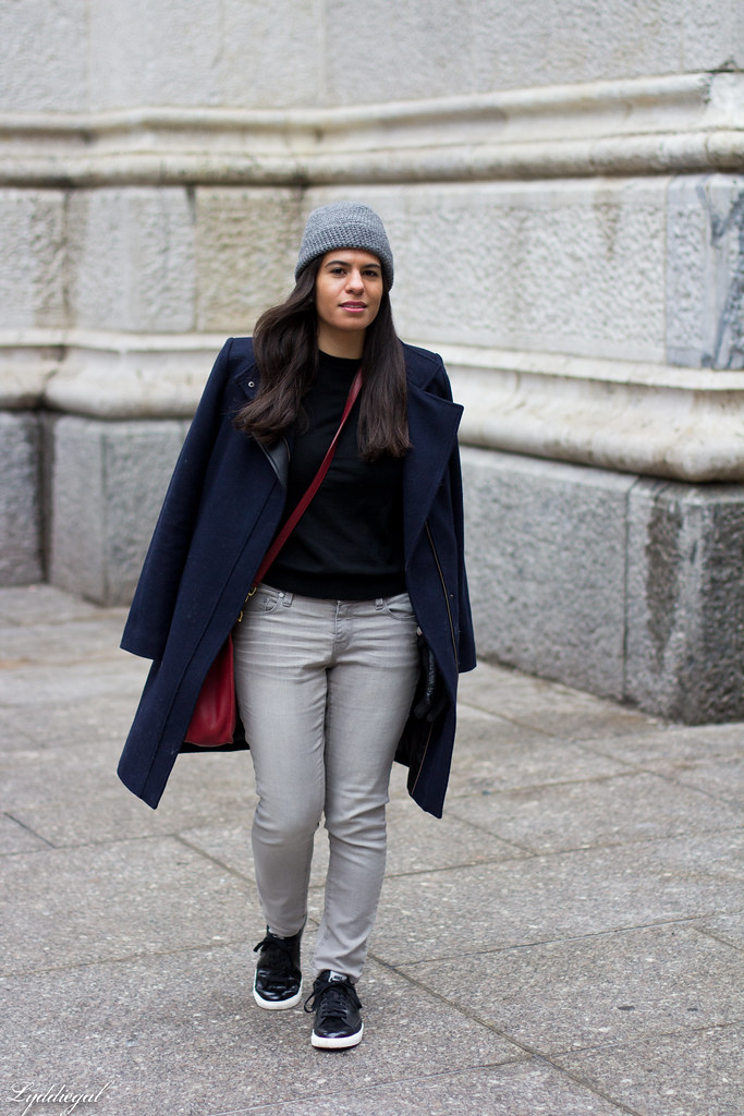 black sweater, grey jeans, sneakers, navy coat-1.jpg
