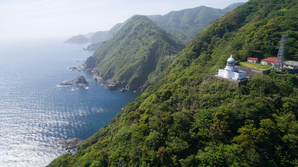 経ヶ岬灯台の空撮
