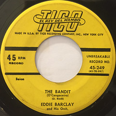 EDDIE BARCLAY AND HIS ORCHESTRA:THE BANDIT(LABEL SIDE-A)