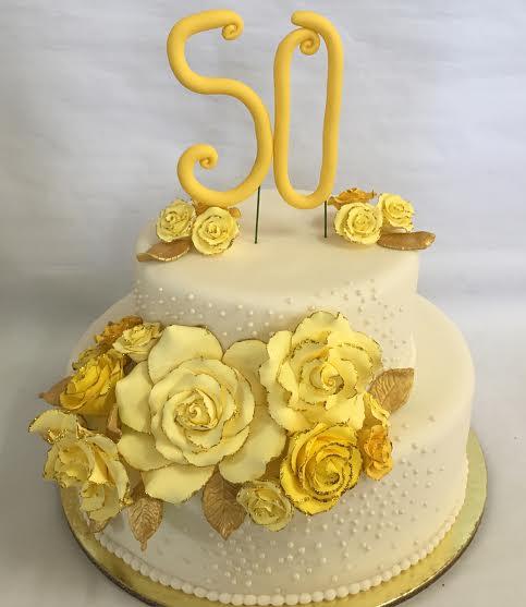 50th Wedding Anniversary Cake by Mutya Pacis of Mutya's Kitchen