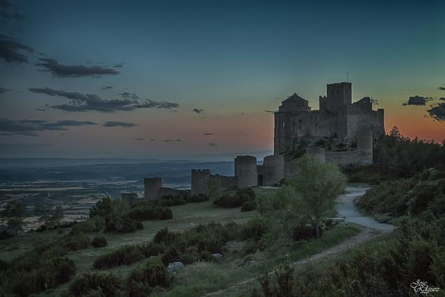 Ocaso en el castillo de Loarre