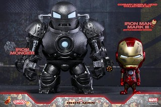 Hot Toys 《鋼鐵人》馬克3(戰損版) & 鐵霸王 COSBABY 套裝組 Mark III (Battle Damaged Ver) & Iron Monger