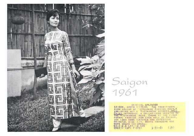 1961 Saigon - Actress Kieu Chinh - Press Photo