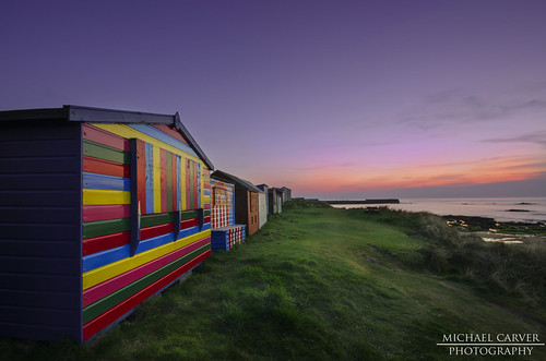Beach Huts - Hopeman by Michael~Ashley