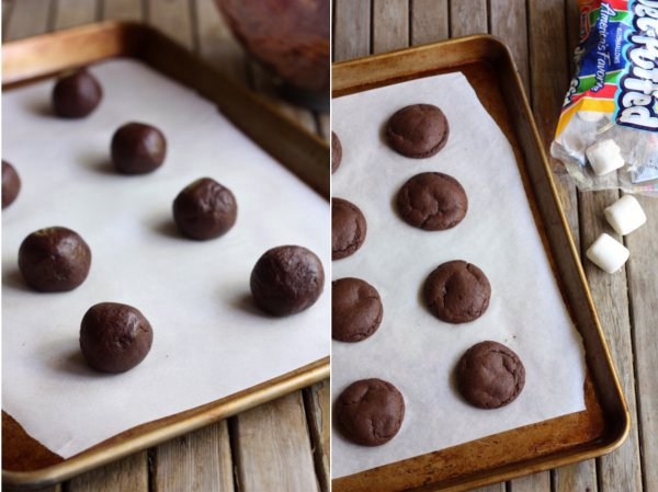 Chocolate Covered Chocolate Marshmallow Cookies