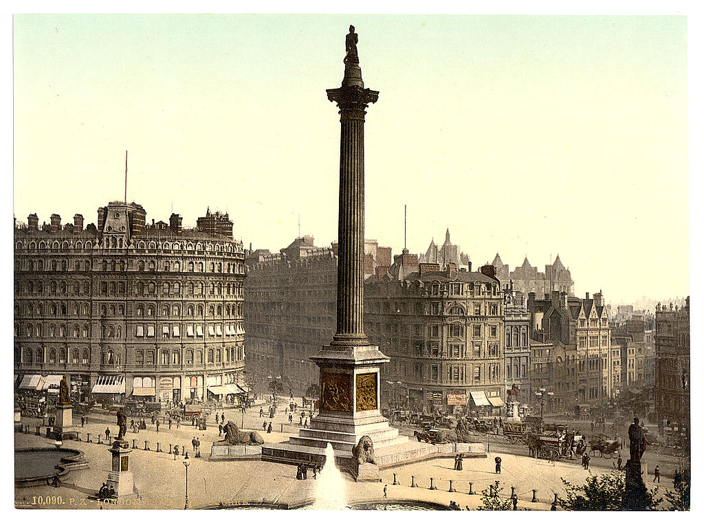 [Trafalgar Square, from National Gallery, London, England] (LOC)
