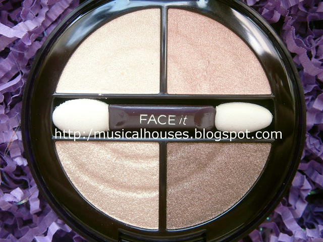 Face Shop Face It Designing Eye Shadow close up 04 Gold Brown