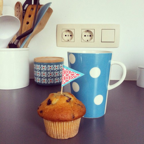 Thee met een muffin
