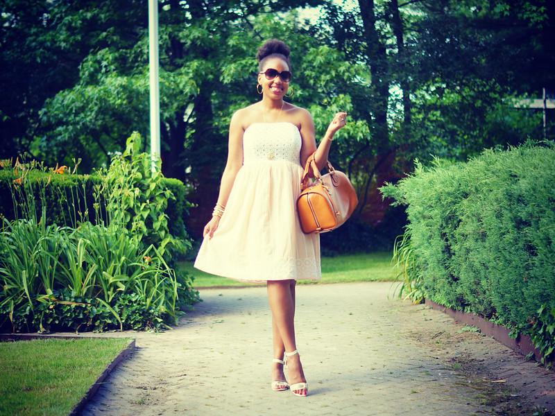 Strapless Eyelet Dress1