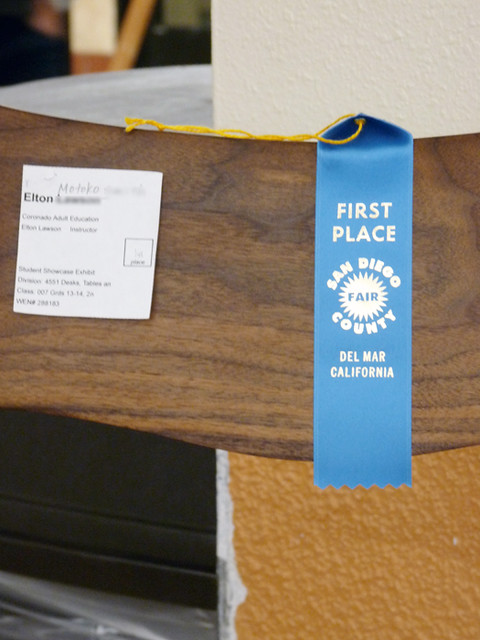 My Sam Maloof Chair Received Blue Ribbon