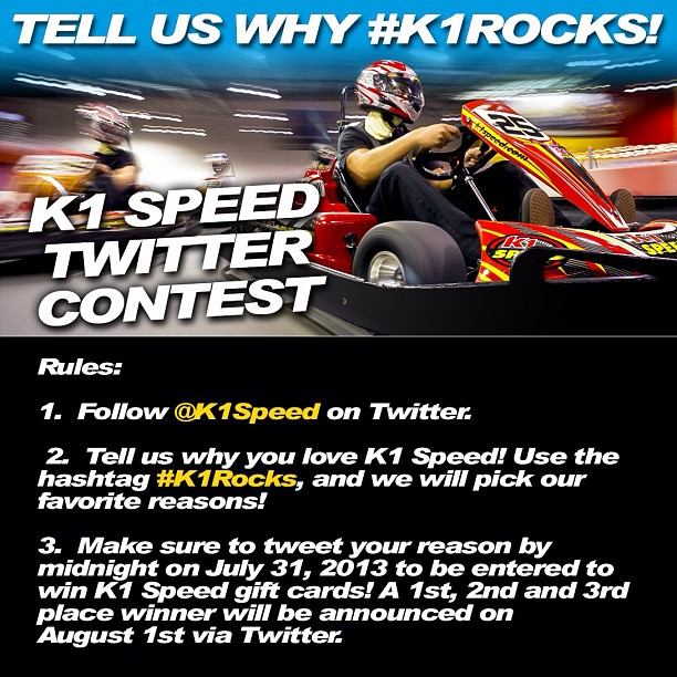 9205011416 a1a4139d98 o K1 SPEED TWITTER CONTEST!