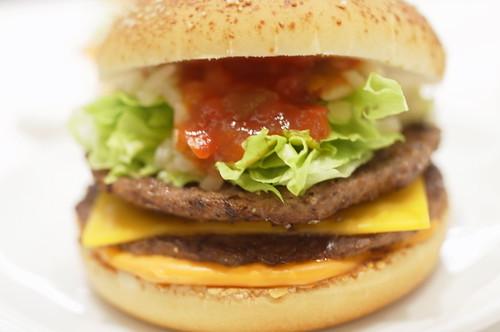 「ダブルビーフサルサ」double beef salsa burger