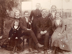Mr and Mrs David Parker and family of Long PLains S.A. c. 1902